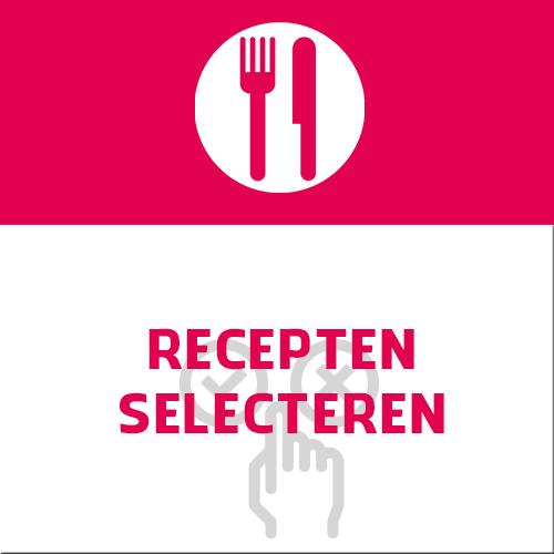 recepten kiezen selecteren maaltijden