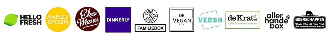 verschillende maaltijdboxen