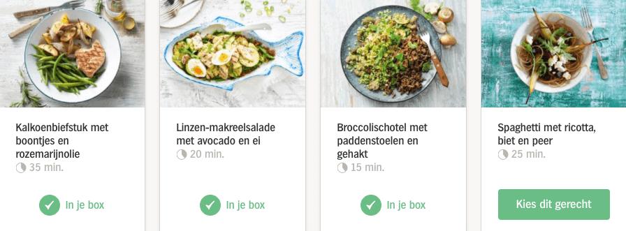 review allerhande box - recepten kiezen