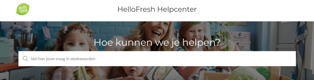 review hellofresh klantenservice - helpcenter