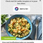 recepten kiezen in de app