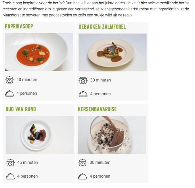 recepten uit de culinaire maashorst box