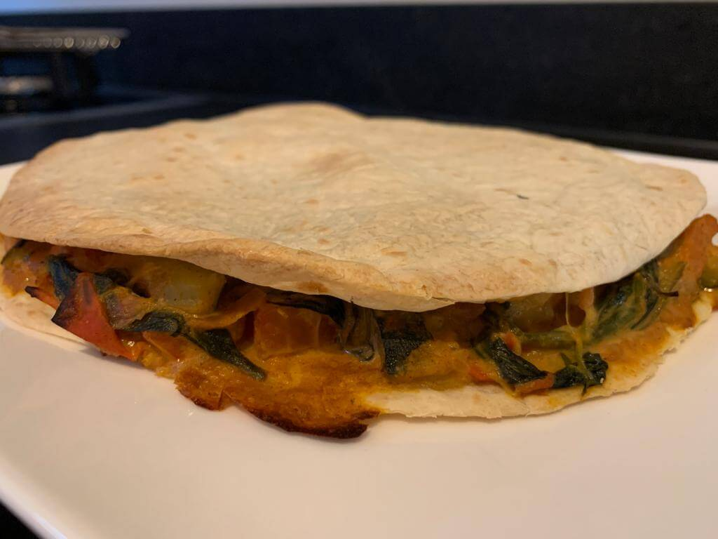 quesadilla's met geitenkaas